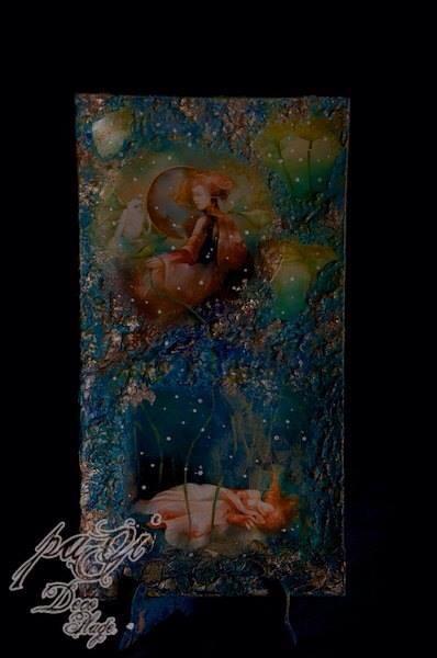 Fantázia üvegtányéron