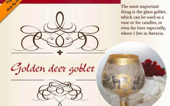 Golden deer goblet