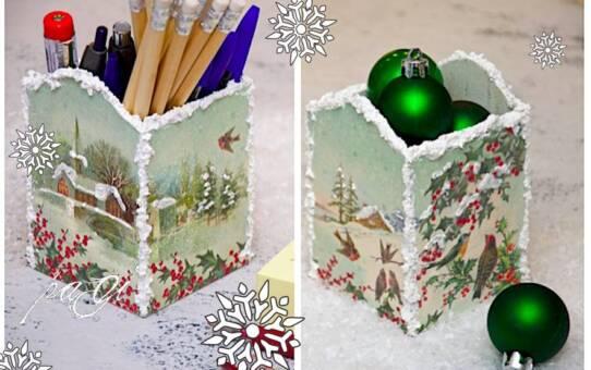 Karácsonyi írószertartó, tuti tippek DIY