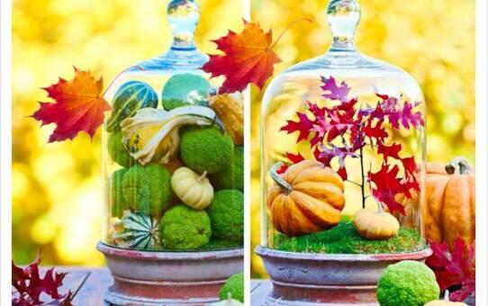 28 őszi dekorációs ötlet – üvegharang