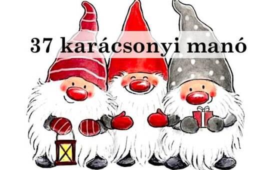 37 karácsonyi manó