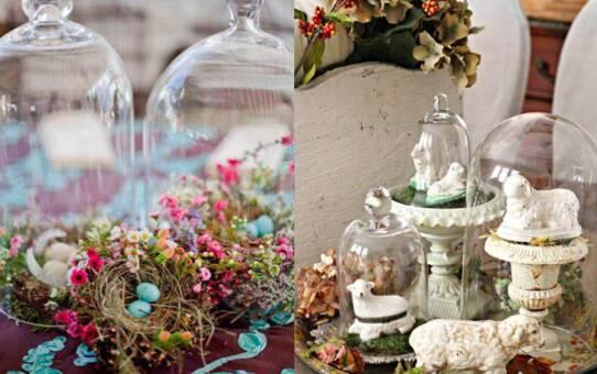 45 tavaszi, húsvéti dekorációs ötlet – üvegharang