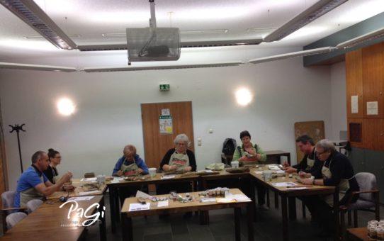 Horusauge, Vergoldung von Treibholz und auf Naturholz – Fotos vom Kurs, 19. 01. 2018