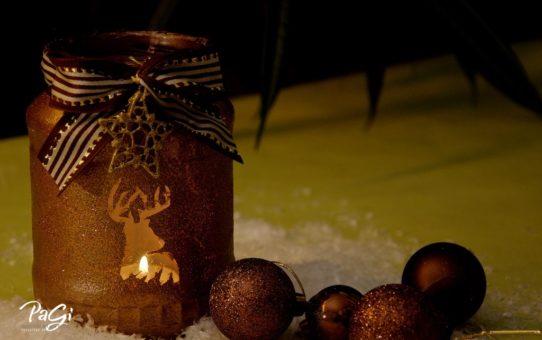 Karácsonyi, szarvasos mécsestartó  - MiniMaLista 35
