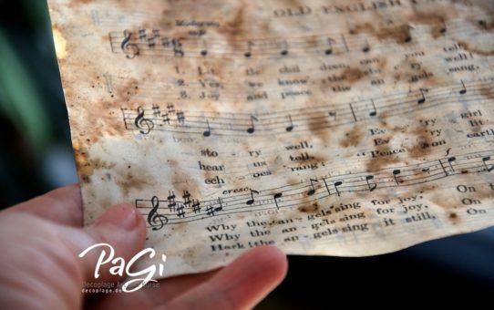 Papírok öregbítése - DIY