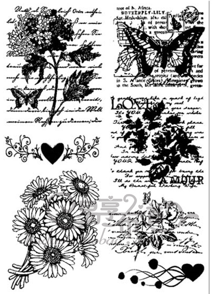 Vintage-zr1312-stamp-three-dimensional-flock-heat-transfer-printing-100pcs-diy-handmade-accessories-12-17cm