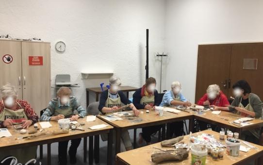 Horusauge, Vergoldung von Treibholz und auf Naturholz – Fotos vom Kurs