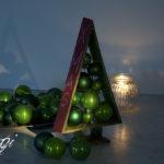 Karácsonyfa gömbökkel - MiniMaLista 7